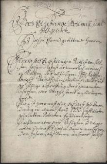 Skarga cechu piekarzy w Cieszynie (praes. 2.10.1749) do magistratu miasta Cieszyna na działających poza cechem niezrzeszonych rzemieślników, którzy zgodnie z cesarskim rozporządzeniem z 1736 r. powinni się wpisać do cechu, ale tego nie robią, wyrządzając cechowi szkody