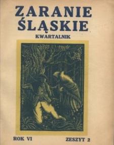 Zaranie Śląskie, 1930, R. 6, z. 2