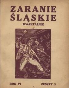 Zaranie Śląskie, 1930, R. 6, z. 3