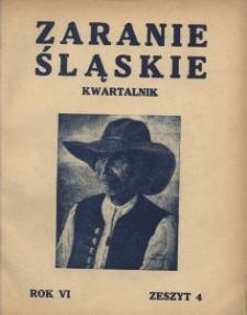 Zaranie Śląskie, 1930, R. 6, z. 4