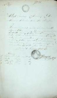 Zaświadczenie wójta gminy Lelów, województwa Krakowskiego z 1827 r.