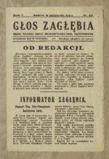 Głos Zagłębia, 1930, R. 7, nr 43