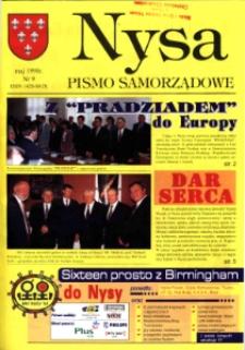 Nysa : pismo samorządowe 1998, nr 9.
