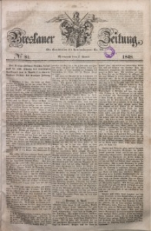 Breslauer Zeitung, 1848, No 81