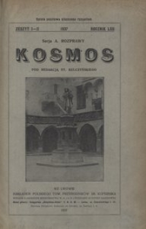 Kosmos. Serja A, 1937, R. 62, z. 1/2