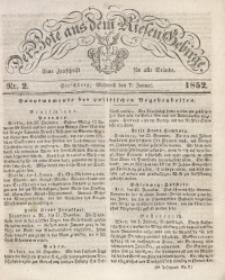 Der Bote aus dem Riesen-Gebirge, 1852, Jg. 40, Nr. 2