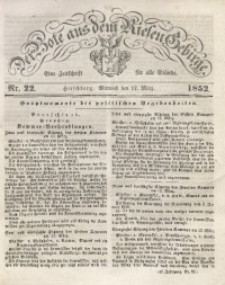 Der Bote aus dem Riesen-Gebirge, 1852, Jg. 40, Nr. 22