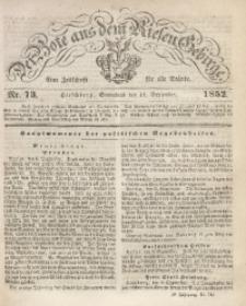 Der Bote aus dem Riesen-Gebirge, 1852, Jg. 40, Nr. 73