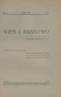 Wieś i Państwo, 1939, R. 2, nr 7