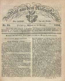 Der Bote aus dem Riesen-Gebirge, 1853, Jg. 41, Nr. 95