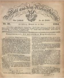 Der Bote aus dem Riesen-Gebirge, 1854, Jg. 42, Nr. 31