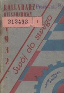 Kalendarz kieszonkowy Narodowej Organizacji Kobiet Wojew. Śl. na rok 1932