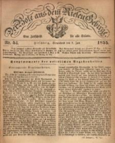 Der Bote aus dem Riesen-Gebirge, 1855, Jg. 43, Nr. 54