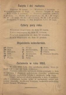 Gdański Kalendarz katolicko-polski Wiarusów Prus Zachodnich, W. Księstwa Poznańskiego i Szląska na rok zwyczajny 1893. - Wyd. większe