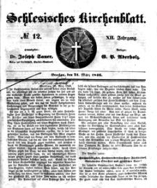 Schlesisches Kirchenblatt, 1846, Jg. 12, nr 12