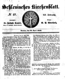 Schlesisches Kirchenblatt, 1846, Jg. 12, nr 17
