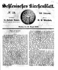 Schlesisches Kirchenblatt, 1846, Jg. 12, nr 33