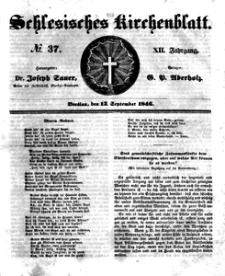 Schlesisches Kirchenblatt, 1846, Jg. 12, nr 37