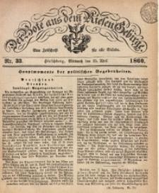 Der Bote aus dem Riesen-Gebirge, 1860, Jg. 48, Nr. 33