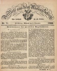 Der Bote aus dem Riesen-Gebirge, 1860, Jg. 48, Nr. 72