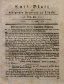 Amts-Blatt der Königlichen Regierung zu Liegnitz, 1818, Jg. 8, No. 12