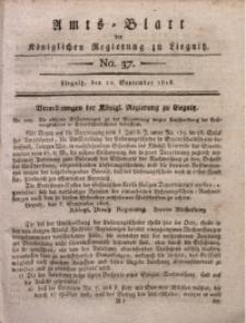 Amts-Blatt der Königlichen Regierung zu Liegnitz, 1818, Jg. 8, No. 37