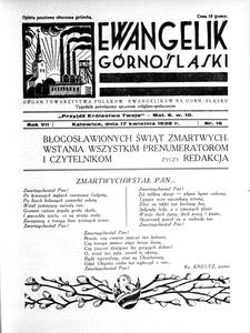 Ewangelik Górnośląski, 1938, R. 7, nr 17