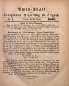 Amts-Blatt der Königlichen Regierung zu Liegnitz, 1860, Jg. 50, No. 1