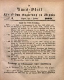 Amts-Blatt der Königlichen Regierung zu Liegnitz, 1860, Jg. 50, No. 5