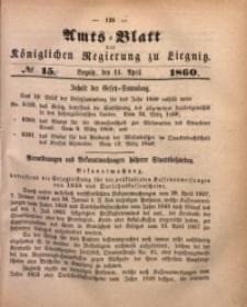 Amts-Blatt der Königlichen Regierung zu Liegnitz, 1860, Jg. 50, No. 15