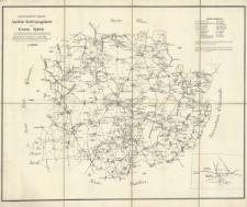 Amtliche Entfernungskarte des Kreises Rybnik : Regierungsbezirk Oppeln