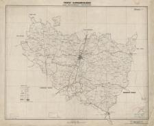 Powiat radomszczański. Mapa administracyjna i komunikacyjna