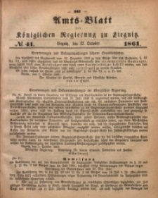 Amts-Blatt der Königlichen Regierung zu Liegnitz, 1861, Jg. 51, No. 41