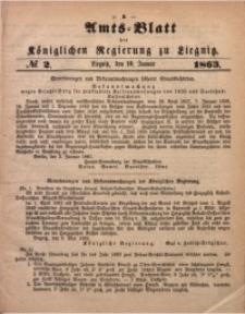 Amts-Blatt der Königlichen Regierung zu Liegnitz, 1863, Jg. 53, No. 2