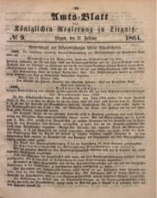 Amts-Blatt der Königlichen Regierung zu Liegnitz, 1864, Jg. 54, No. 9