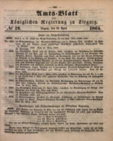 Amts-Blatt der Königlichen Regierung zu Liegnitz, 1864, Jg. 54, No. 16