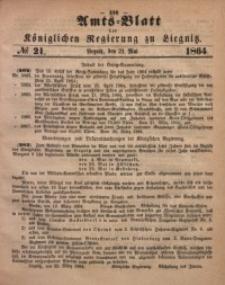 Amts-Blatt der Königlichen Regierung zu Liegnitz, 1864, Jg. 54, No. 21