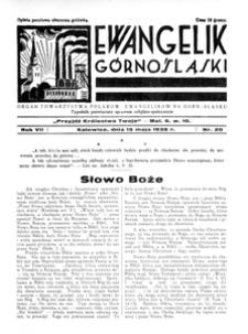 Ewangelik Górnośląski, 1938, R. 7, nr 21