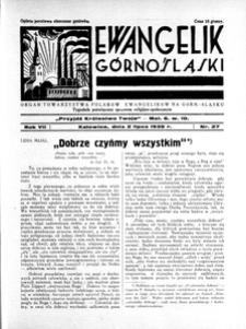 Ewangelik Górnośląski, 1938, R. 7, nr 28