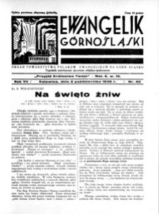 Ewangelik Górnośląski, 1938, R. 7, nr 40