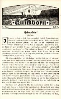 Quickborn für die abstinente studierende Jugend. Jg. 4, h. 9.