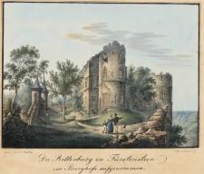 Die Ritterburg zu Fürstenstein im Burghofe aufgenommen