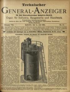 Technischer General-Anzeiger für den Oberschlesischen Industrie-Bezirk, 1902, Jg. 8, No. 20