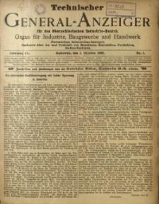 Technischer General-Anzeiger für den Oberschlesischen Industrie-Bezirk, 1902, Jg. 9, No. 1