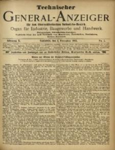 Technischer General-Anzeiger für den Oberschlesischen Industrie-Bezirk, 1903, Jg. 10, No. 5