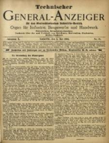 Technischer General-Anzeiger für den Oberschlesischen Industrie-Bezirk, 1904, Jg. 10, No. 15
