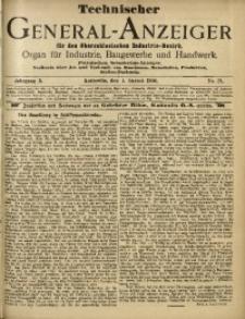 Technischer General-Anzeiger für den Oberschlesischen Industrie-Bezirk, 1904, Jg. 10, No. 21