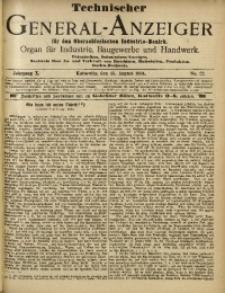 Technischer General-Anzeiger für den Oberschlesischen Industrie-Bezirk, 1904, Jg. 10, No. 22