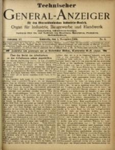 Technischer General-Anzeiger für den Oberschlesischen Industrie-Bezirk, 1904, Jg. 11, No. 3