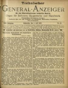 Technischer General-Anzeiger für den Oberschlesischen Industrie-Bezirk, 1907, Jg. 13, No. 19